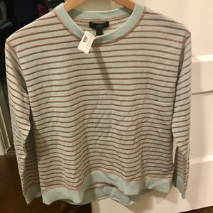 Gold stripe JCrew sweater size small